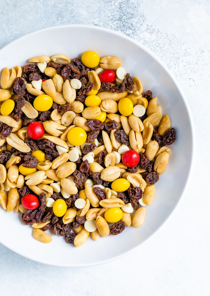 Bowl of monster trail mix.