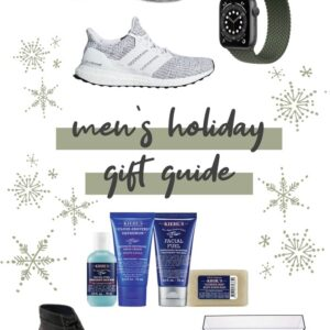 Collage of gift items to give to men for the holidays.