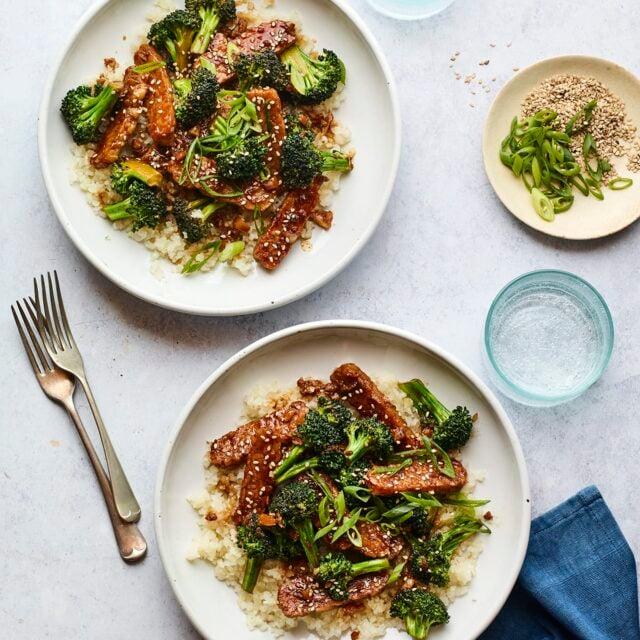 Teriyaki Tempeh and Broccoli