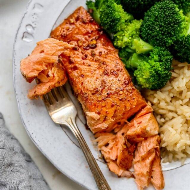 Easy Balsamic Glazed Salmon