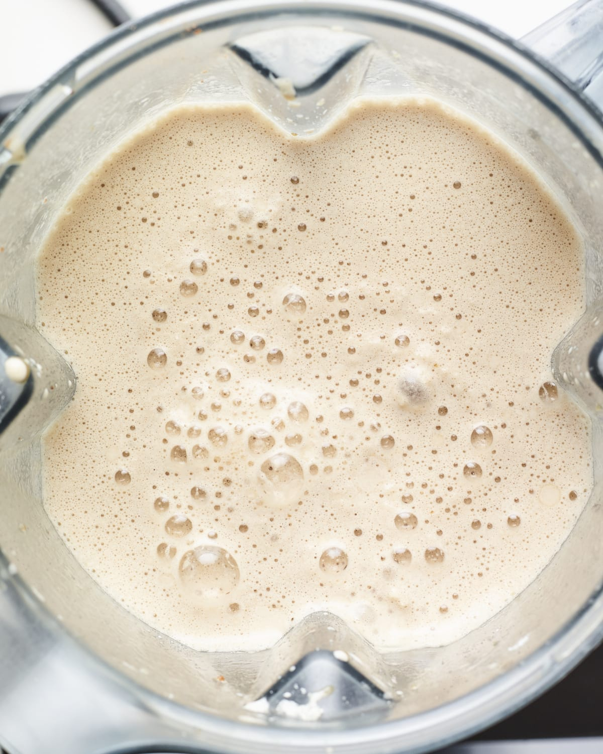 Blended Frappuccino in a blender.