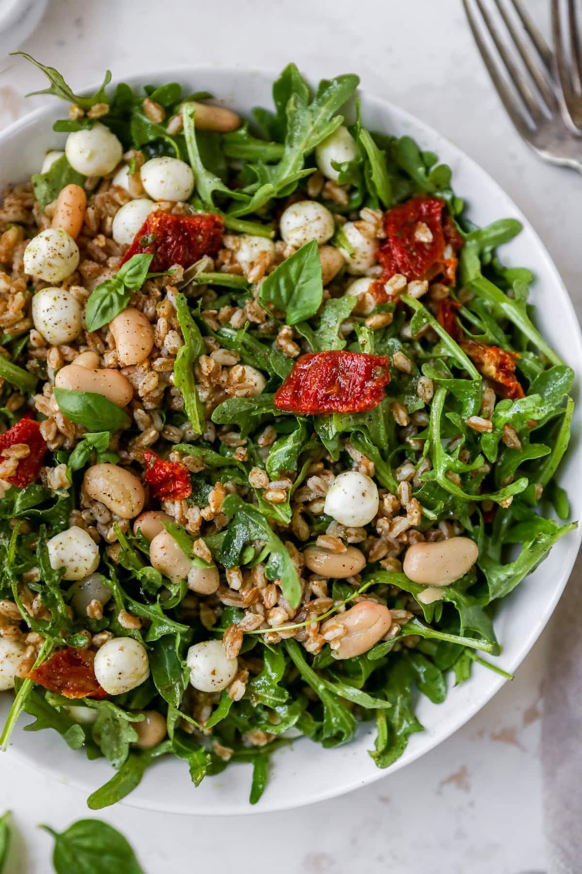 Farro Salad {w/ Basil French dressing}