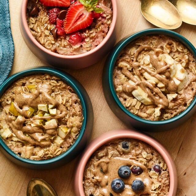 Single Serving Baked Oatmeal - 4 Ways