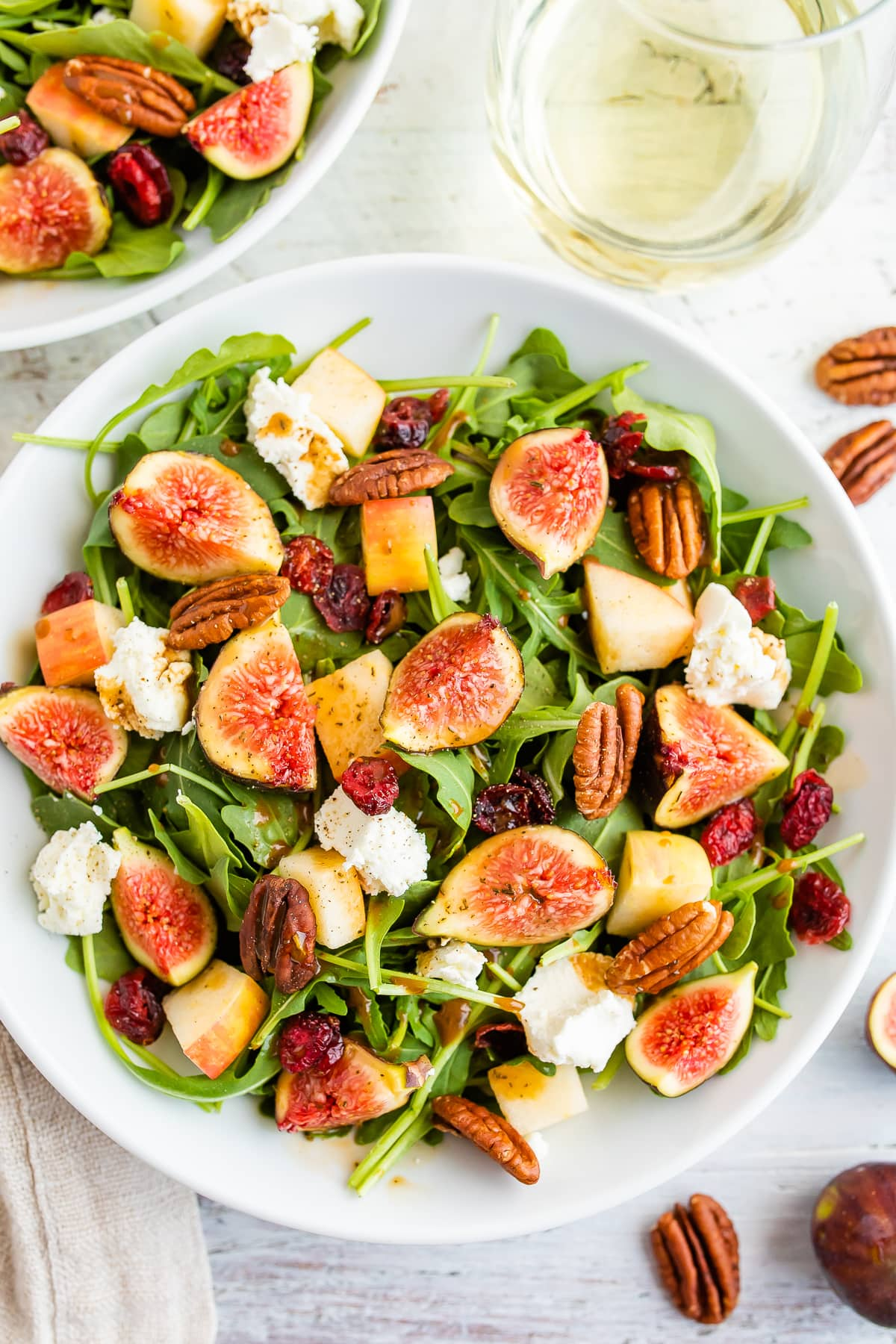 Fig Salad with Arugula and Goat Cheese